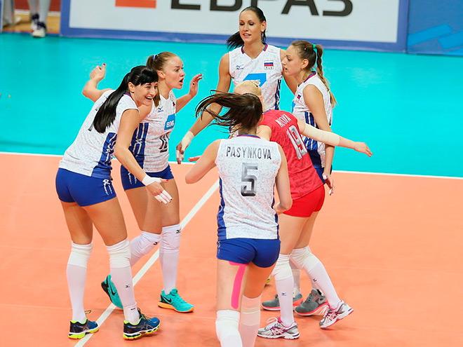 Сборная России обыграла немецких волейболистов