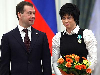Слепцова: дома положила медаль на полку