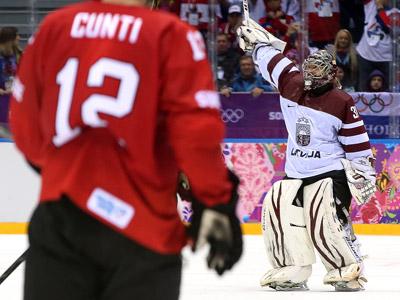Сочи-2014. Хоккей. Латвия обыграла Швейцарию 3:1