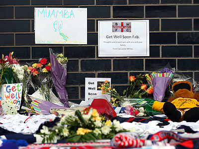 Инфаркт Фабриса Муамбы – главное событие футбольного уикэнда в Англии