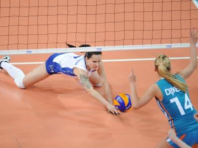 Светлана Крючкова в матче против сборной Нидерландов