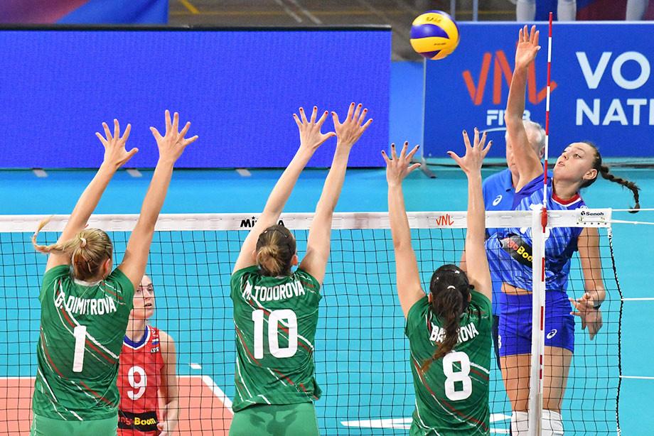 Россия победила Болгарию на этапе Лиги наций в Италии, обзор матча