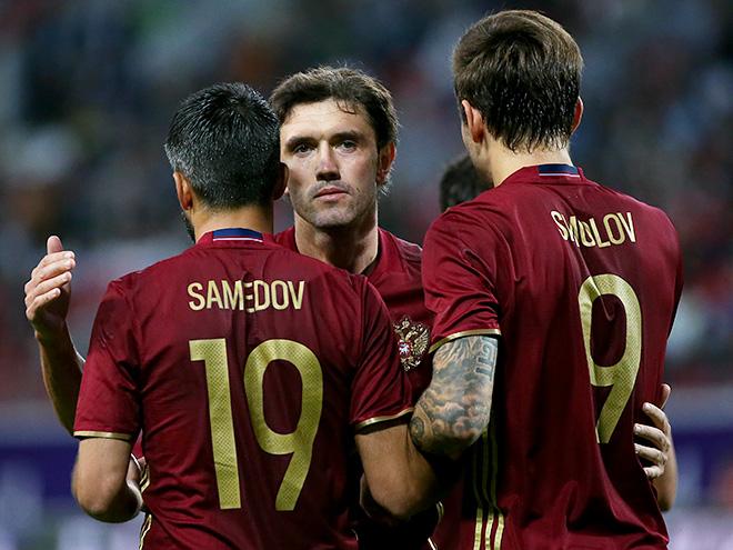 Сборная Российской Федерации провела заключительную тренировку перед матчем сГаной