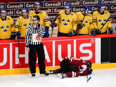 Сборная Швеции уверенно обыграла Латвию – 4:0
