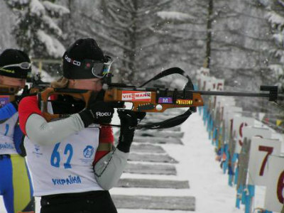 Украинка Валя Семеренко - третья в сприте