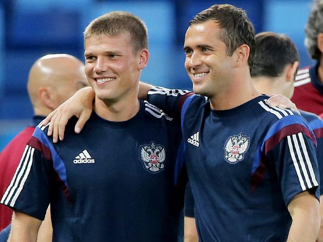 Игорь Денисов и Александр Кержаков