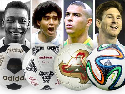 20 официальных мячей чемпионатов мира