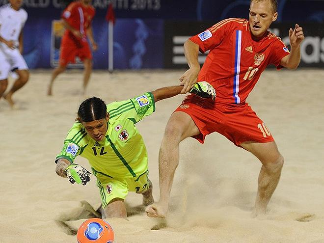 Пляжный футбол. Трансляция матча Россия-Япония