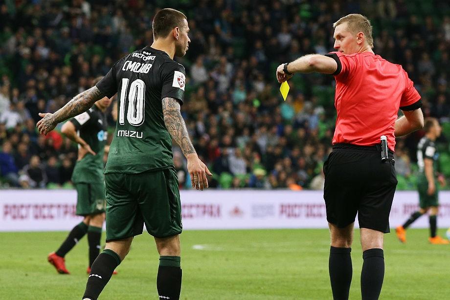 ФК «Краснодар» подал апелляцию нарешение наказать Смолова желтой карточкой