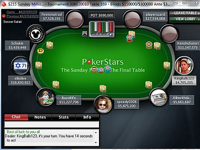 Sunday Million. 18th of April