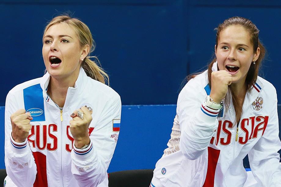 Мария Шарапова и Дарья Касаткина
