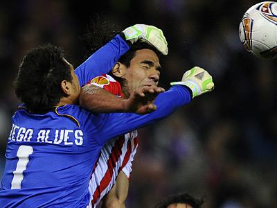 «Атлетико» и «Спортинг» победили в первых играх 1/2 финала Лиги Европы