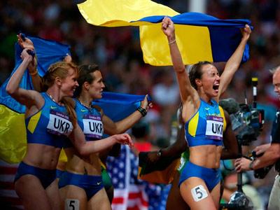 Украина выиграла «бронзу» в женской эстафете 4х100 м