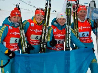 Женская сборная Украины стала второй в Хохфильцене