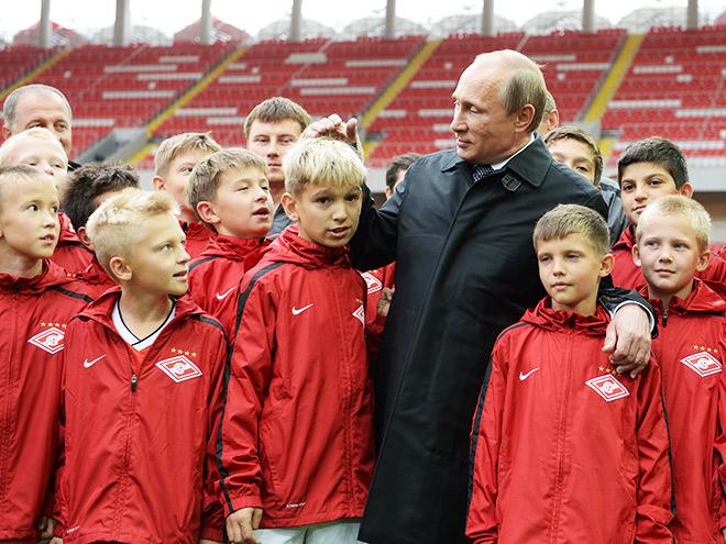 Владимир Путин посетил «Открытие Арену»