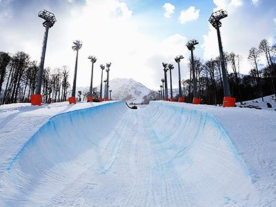 Олимпиада в Сочи. Трассы для фристайла и сноуборда