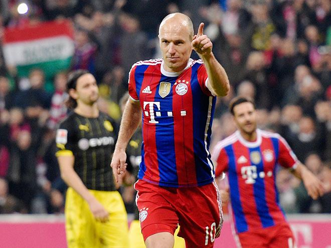 «Бавария» вырвала победу в матче с «Боруссией»