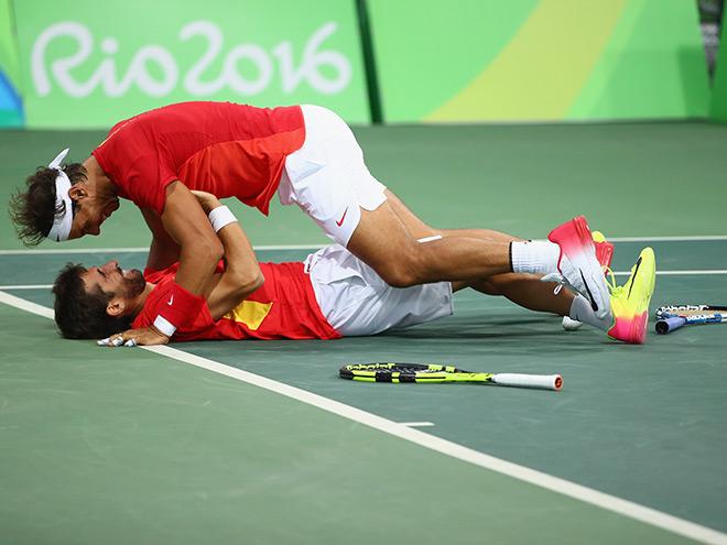 Рафаэль Надаль вышел в финал парного турнира на Олимпиаде 2016