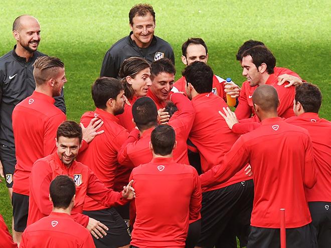 «Атлетико» готовится к финалу Лиги чемпионов