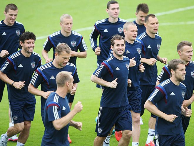 Репортаж с тренировки сборной России