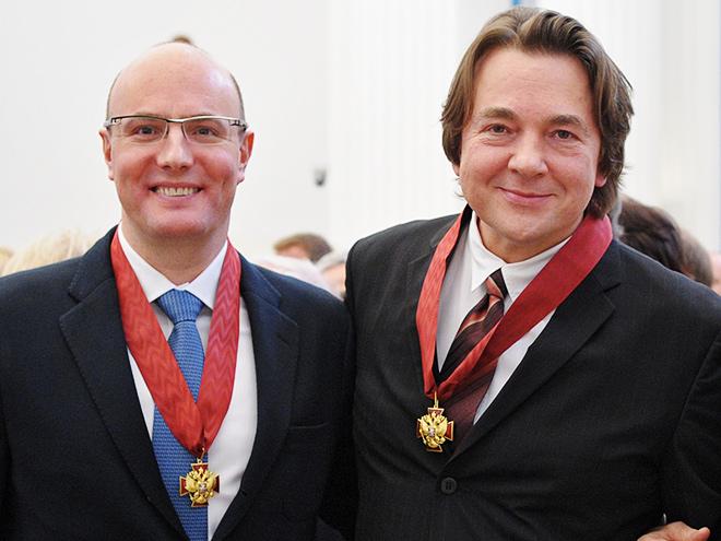 Дмитрий Чернышенко и Константин Эрнст