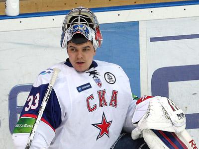 В четвёртом матче с ЦСКА в воротах СКА играл Илья Ежов