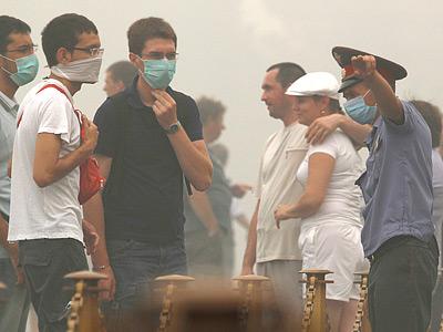Московский смог продолжает рушить планы команд