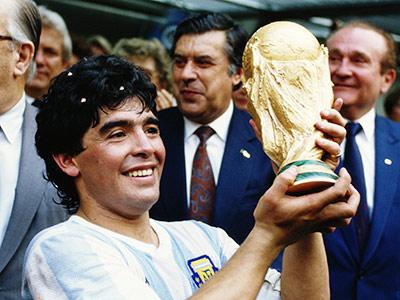 Диего Марадона с Кубком Мира