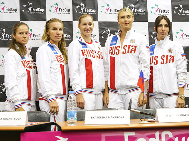 Сборная России готовится к матчу Кубка Федерации
