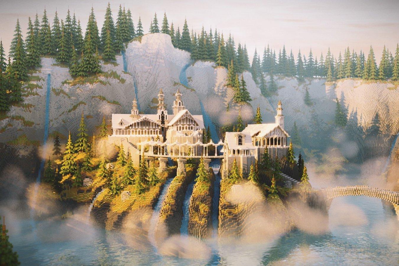 Игрок в Minecraft построил Ривенделл из Властелина колец