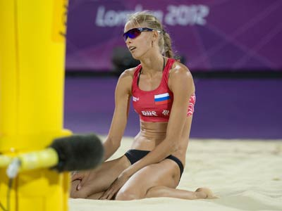 Лондон-2012. Пляжный волейбол. Анастасия Васина