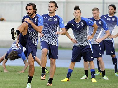 Тренировка сборной Италии