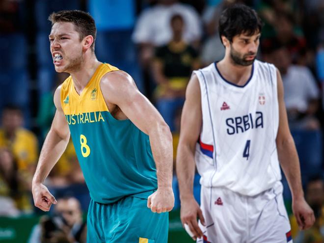 1/2 финала турнира ОИ по баскетболу: США – Испания, Австралия – Сербия