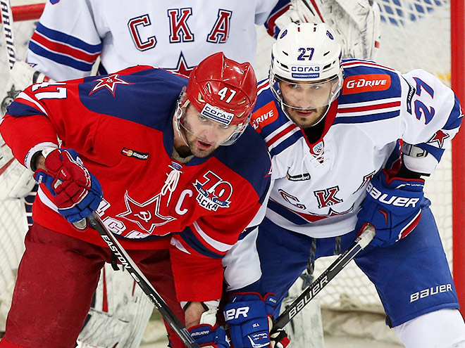 ЦСКА выиграл у СКА – 4:2