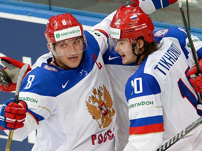 Александр Овечкин и Виктор Тихонов