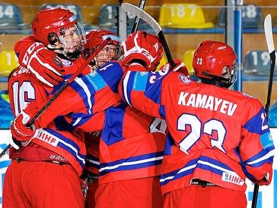 Юниорская сборная России разгромила юниоров Швейцарии