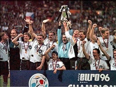 В 1996 году Германия в третий раз завоевала титул чемпиона Европы