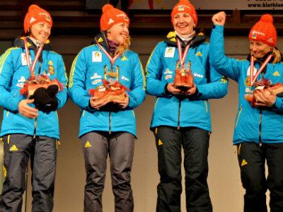 Сборная Украины выиграла золото в Сочи в эстафете