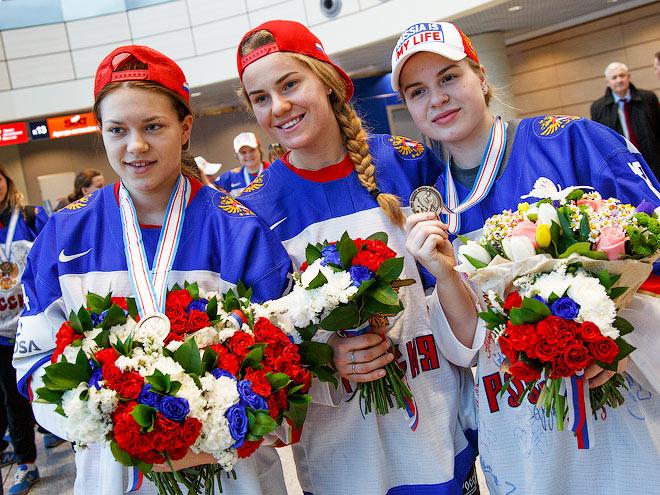 Женская сборная России с бронзой ЧМ вернулась в Москву
