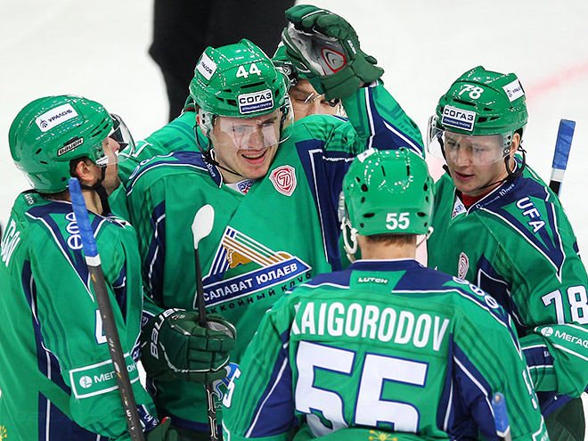 Хоккеисты ХК «Салават Юлаев»