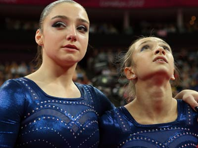 Лондон-2012. Гимнастика. Мустафина и Комова