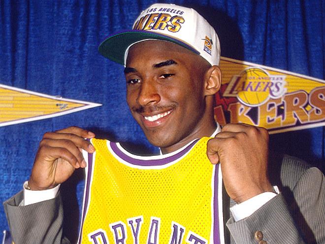 Коби Брайант был выбран под 13-м номером драфта 1996 года