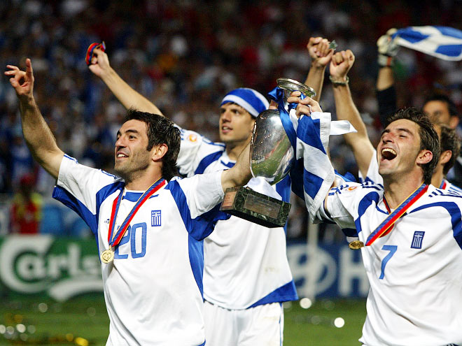4 июля 2004 Греция выиграла чемпионат Европы