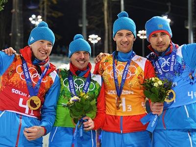 Россия — чемпион в биатлонной эстафете