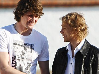 Сергей Песьяков и Валерий Карпин