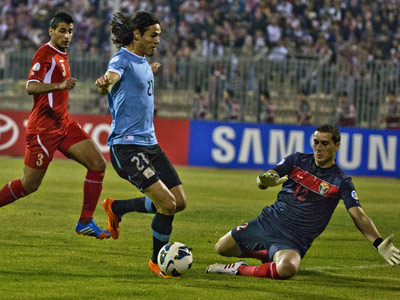 Уругвай разгромил Иорданию