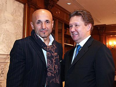 Лучано Спаллетти и Алексей Миллер