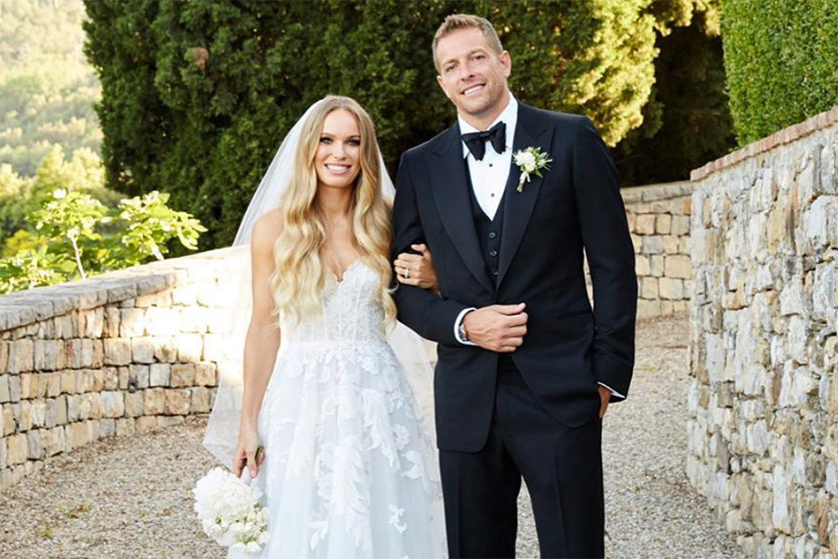 Подробности свадьбы Каролины Возняцки и Дэвида Ли