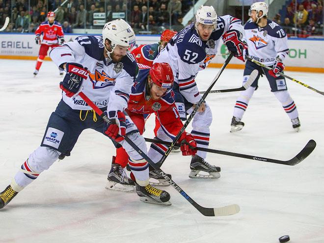 Хоккеист ЦСКА Кугрышев забросил первую шайбу нового сезона чемпионата КХЛ