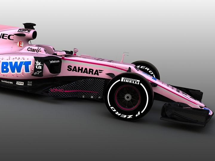 Автомобиль «Форс Индия» в сезоне-2017 Формулы-1 получит розовую раскраску